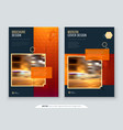 brochure design a4 cover template for brochure vector image