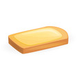butter bread icon cartoon style vector image