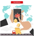 Buying and Fast Delivery by Smartphone vector image vector image