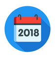 calendar for 2018 year icon vector image
