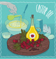 castor oil used for cooking vector image vector image