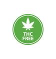 cbd hemp oil logo thc free medical hemp cannabis vector image