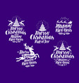 christmas new year logo or label xmas vector image vector image