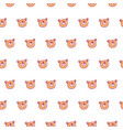 cute bear pattern vector image vector image