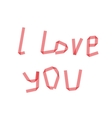 dry i love you ribbon vector image vector image