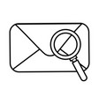 envelope mail with magnifying glass vector image