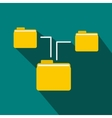 Folders structure icon flat style vector image vector image
