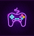 game console neon sign vector image vector image