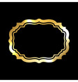Gold frame simple black vector image vector image