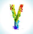 Gradient splashes font vector image vector image