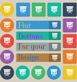 Graph icon sign Set of twenty colored flat round vector image