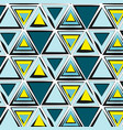 green blue yellow tribal pattern abstract vector image vector image
