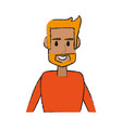 guy face cartoon vector image vector image