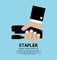 Hand Holding A Stapler vector image
