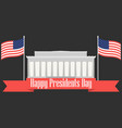 happy presidents day banner with american flag vector image vector image
