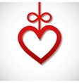 heart sliced from red paper vector image vector image