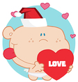 Holiday baby cartoon vector image vector image