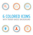 human icons set collection of briefcase female vector image vector image
