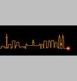 kuala lumpur light streak skyline vector image