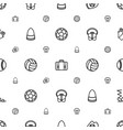 leather icons pattern seamless white background vector image vector image