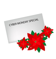 Lovely Red Poinsettia Flowers with Cyber Monday vector image vector image