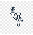 magician man concept linear icon isolated on vector image vector image