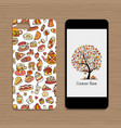 mobile phone cover design idea for sweets shop vector image