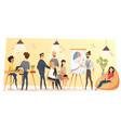 people working in coworking office cartoon vector image vector image