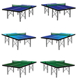 ping pong table in three color vector image vector image