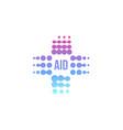 purple abstract aid cross logo medical vector image vector image