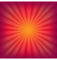 Red And Orange Background With Sunburst vector image vector image