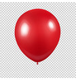red balloon with transparent background vector image