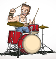Rock musician drummer vector image vector image
