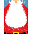Santa Claus with beard Christmas postcard Big vector image vector image