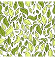 Seamless leaf pattern with leaves silhouette vector image vector image
