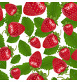 seamless strawberries pattern vector image vector image
