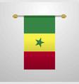 senegal hanging flag vector image vector image