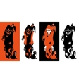 Set of Halloween night backgrounds vector image vector image