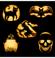 Set of Jack o Lanterns vector image