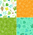 Set of seamless leaves patterns vector image vector image