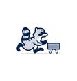 shopping racoon icon logo premium vector image vector image