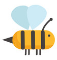 simple sketch of a bee color on white background vector image