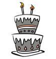 sketch a beautiful celebration cake