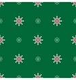 Snowflakes on a green background vector image vector image