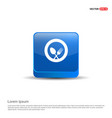 spoon and fork icon - 3d blue button vector image vector image