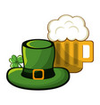st patricks day beer and hat design vector image