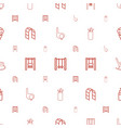 swing icons pattern seamless white background vector image vector image