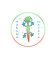 typography slogan print with cute color lizard vector image vector image
