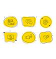 vacancy love gift and monitor repair icons set vector image vector image