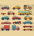 various cars collection vector image